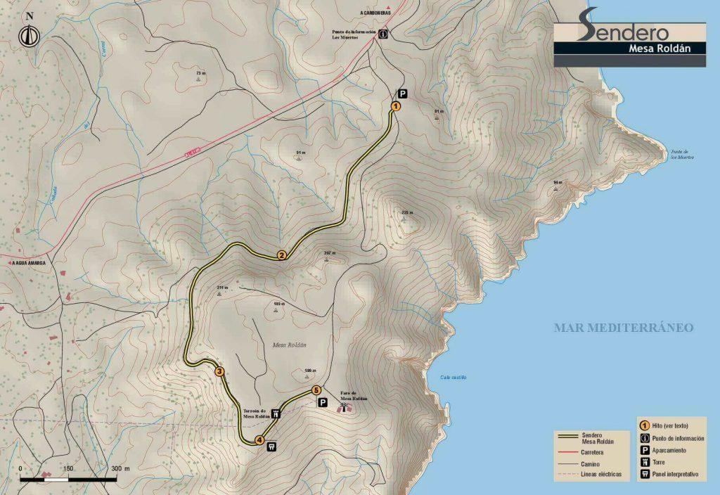 Mapa Sendero Mesa Roldán