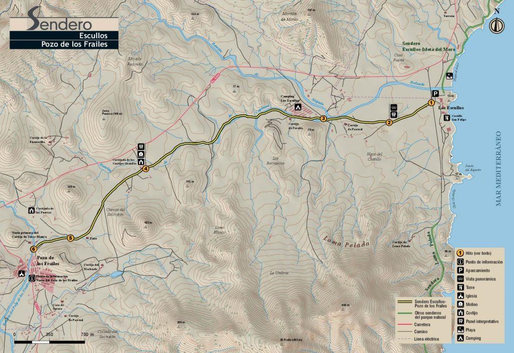 Mapa Escullos a Los Frailes