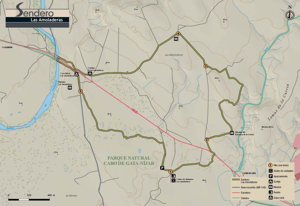 Mapa Ruta Senderismo Las Amoladeras