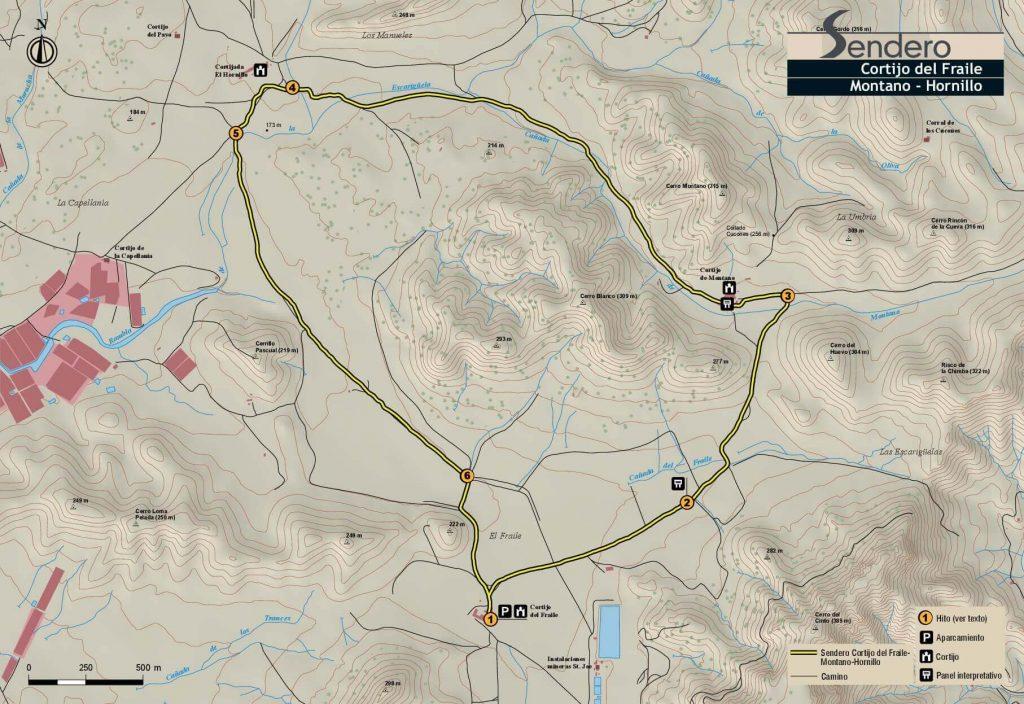 Mapa Cortijo del Fraile al Hornillo