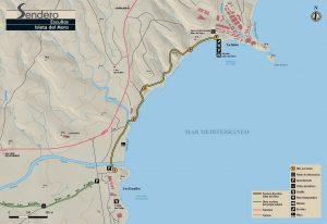 Mapa Escullos a Isleta del Moro
