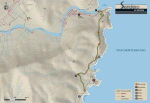 Mapa Sendero La Molata