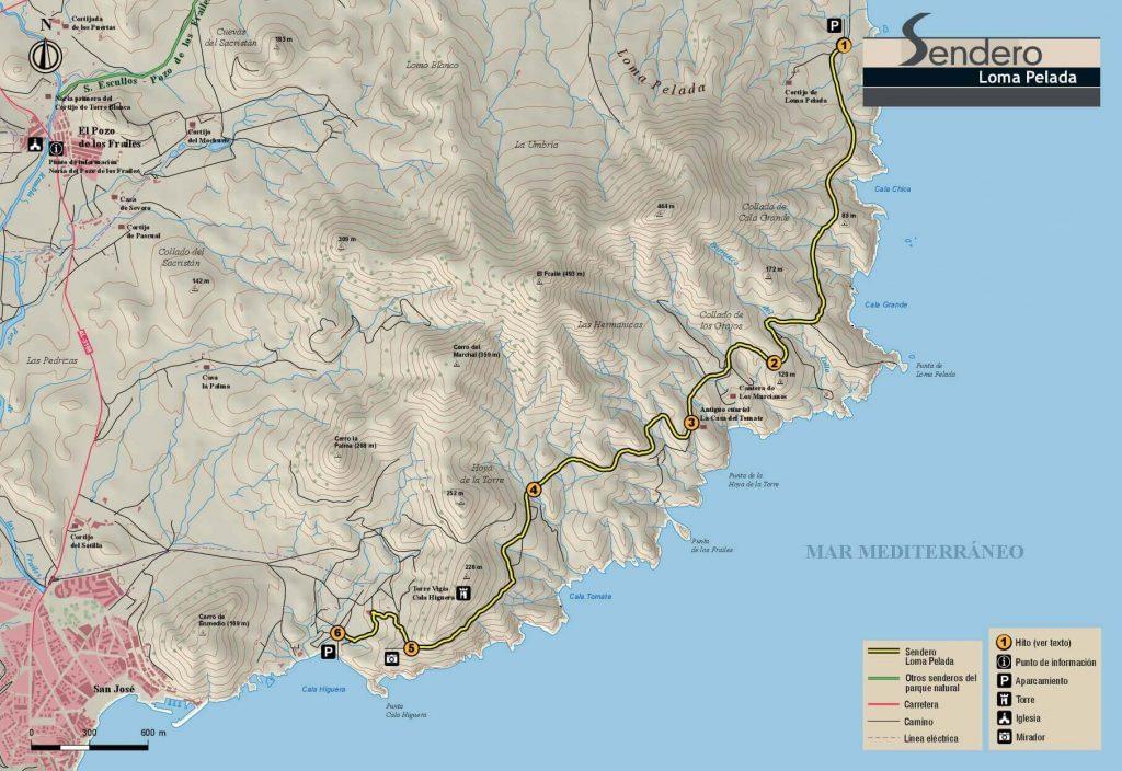 Mapa Oficial Sendero Loma Pelada