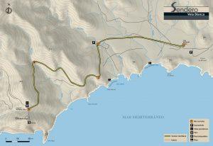 Mapa Sendero Vela Blanca