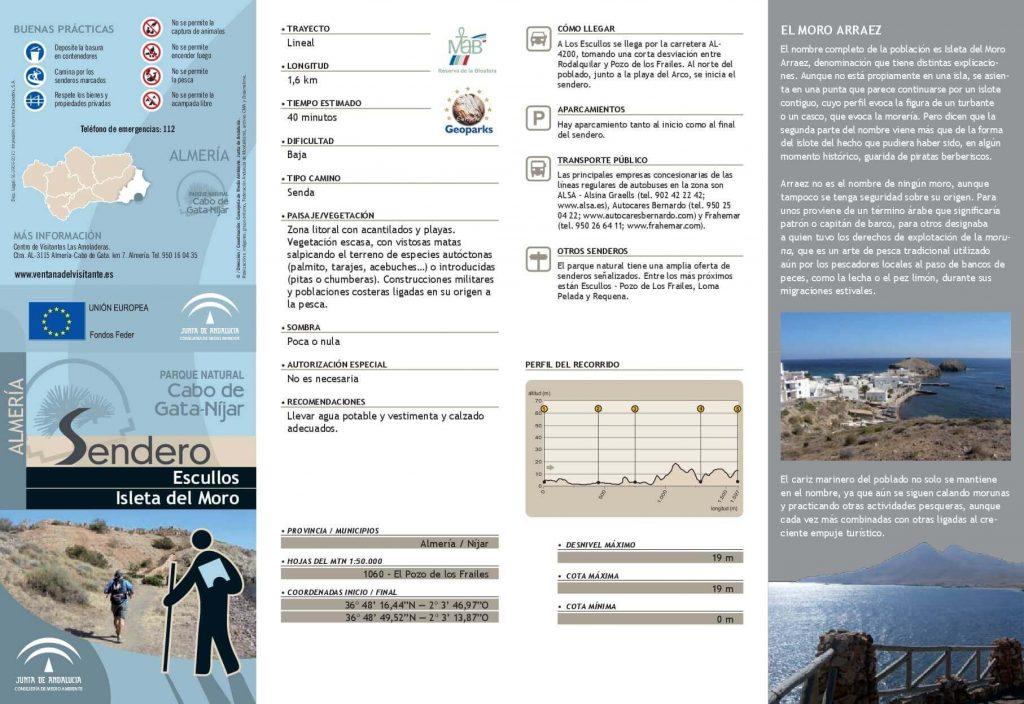 Tríptico 2 Escullos a Isleta del Moro