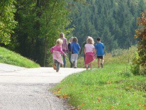 senderismo con niños camino